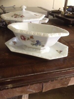 Rosenthal Of Bavaria Gravy Boat & Vegetable Terrines With Spare Lid