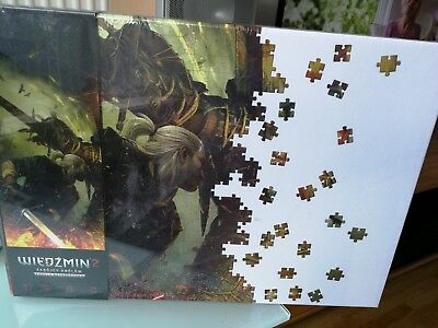 The Witcher 2 Geralt and Draug Puzzle 1500 Teile 85x58cm neu