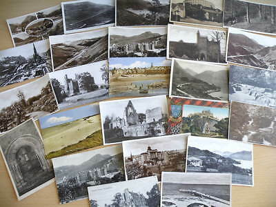 25 vintage Postcards featuring various locations in and around SCOTLAND