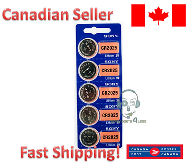 SONY ORIGNAL OEM CR2025 DL2025 Batteries coin watch battery [5P]- FREE RETURNS