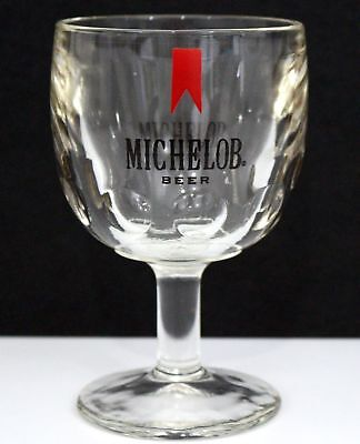 Vintage Michelob Beer Thumbprint Heavy Glass Goblet - Collectible