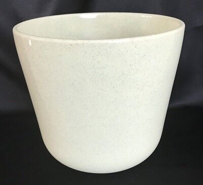 """Vintage Bauer-California Pottery ~Large Green Speckled Planter Pot #10 - 9"""" Tall"""