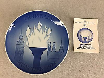 Bing & Grondahl 1972 Munich Olympics Collector Plate Porcelain First Issue
