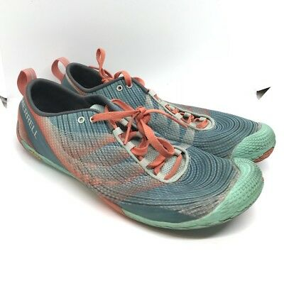 low priced 97bab d1aeb MERRELL VAPOR GLOVE 2 Sea Blue Coral Running Sneakers Womens Size 11 -   39.99   PicClick