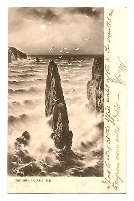 Fair Isle THE SHERIFF Shetland OLD TUCK UNDIVIDED BACK POSTCARD 1903
