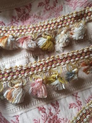 1.82 Mtrs of Rare 19thC Antique French Pompom Passementerie Trim,Vintage Sewing