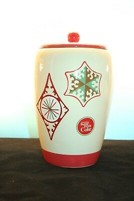 "Ceramic COOKIE JAR "" THINGS GO BETTER WITH COKE "" COCA COLA"