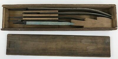 Mound Tool Co Hollow Ground Scrapers Set of 5 in Original Box