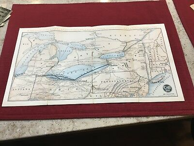Vintage NYCRR  NYC&St LRR And Steamer Boat Map
