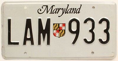 Maryland 2005 State Crest Shield License Plate, LAM 933, Nice Quality