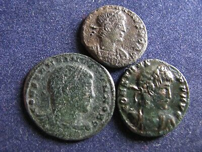 3 Genuine Ancient Roman Coins,Various Emperors,Unresearched,Some Great Detail A