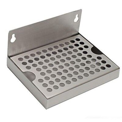 """4"""" x 6"""" Kegerator Drip Tray Stainless Steel Hanging with Removable Grate"""