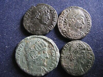 4 Genuine Ancient Roman Coins,Various Emperors,Unresearched,Some Great Detail