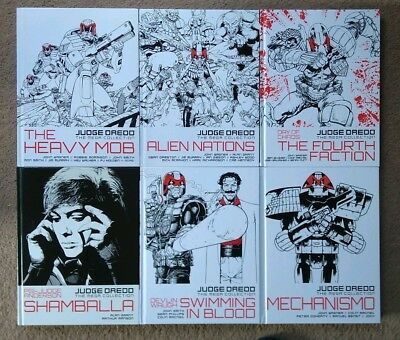 Judge Dredd Mega Collection Hardback Graphic Novel Lot Of 6 Anderson 2000Ad