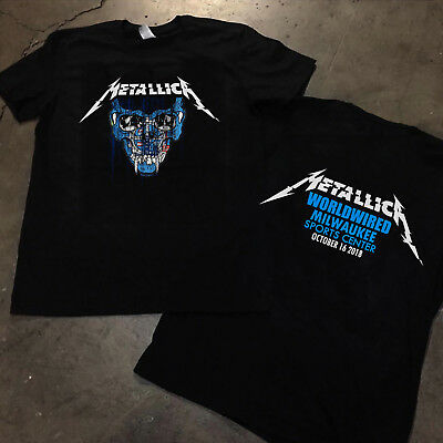 Metallica T Shirt Worldwired Tour 2018 MILWAUKEE wisconsin Gildan S - 3XL NEW