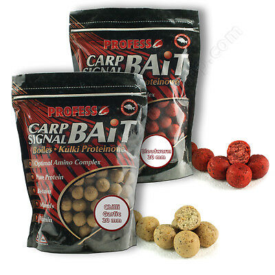 Carp Boilies 20mm Chilli Garlic Bloodworm Hook Bait Fishing Session Pack Barbel