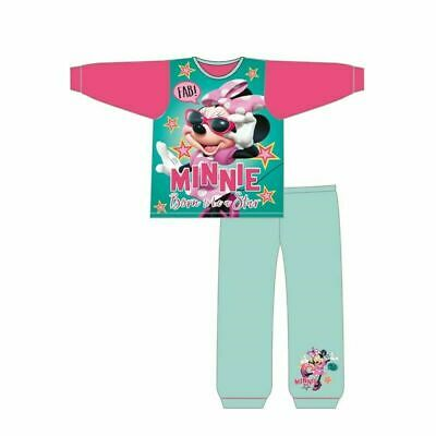 Girls Disney Minnie Mouse Pink Pyjamas Nightwear PJs Age 1-4 Years