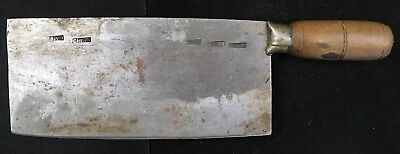 Antique Vintage Handmade Chinese Style Steel Cleaver Butcher Chef Kitchen Knife