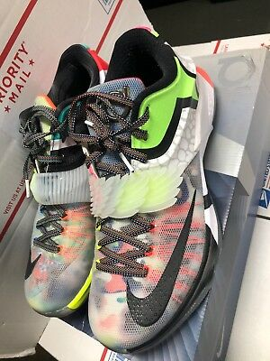buy online aee90 a3299 Nike Air Zoom KD 7 VII Size 11 What The Durant SE Black Horizon 801778-