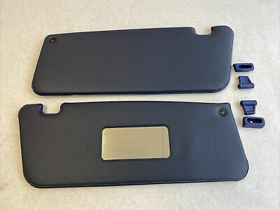 PAIR OF NEW SUN VISORS FITS MERCEDES SL W107 Tobacco WITH MIRROR /& CLIPS