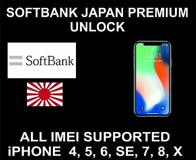 JAPAN SOFTBANK IPHONE 8 / 8+ Factory Unlock PREMIUM Service - 100