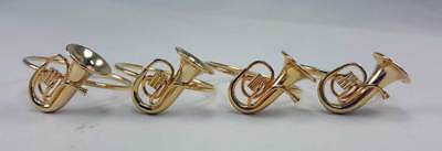Musical Instrument Napkin Rings Baritone set of 4