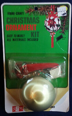 Vintage 1973 Fibre-Craft Bead Sequin Ornament Kit 9147 Poinsettia NEW KIT