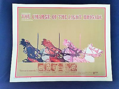 Original 1968 THE CHARGE OF THE LIGHT BRIGADE Half Sheet Movie Poster 22 x 28