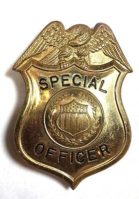Antique Police Badge Of Federal Special Officer 1920's Bureau Prohibition Unit