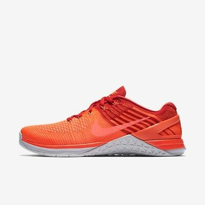 4a0f47aa7206 Nike Metcon DSX Flyknit Total Crimson Red Platinum Orange Uk Size 9  852930-800