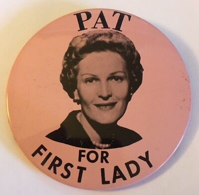 """3"""" Pat (Nixon) for First Lady Political Pin"""