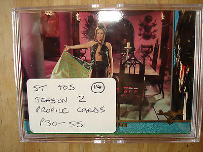 Star Trek Season 2 Profile Cards P30-P55 Superb Condition