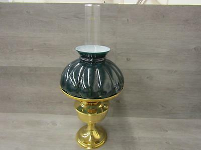 """* Vintage Aladdin No 23 Oil Lamp Green Cover 24"""" Tall"""