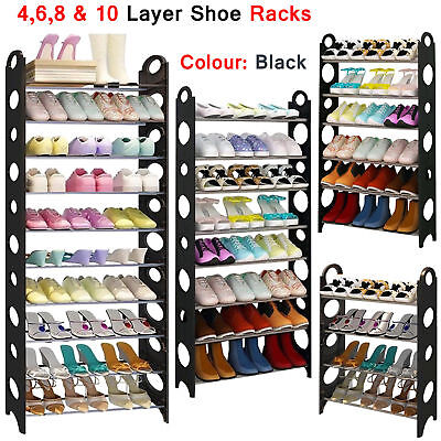 4/6/8/10 Tier Shoe Storage Shelf Rack Stand Organizer 12/18/24/30 Pairs Shoes