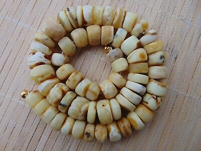 """Natural white butterscotch honey Baltic AMBER stones beads Necklace 54 grams 18"""""""