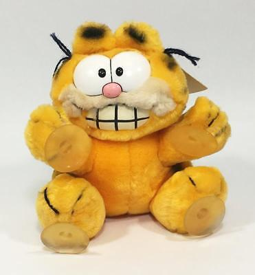 """Vintage 1981 Dakin Garfield STUCK ON YOU 8"""" Plush with Tags United Features"""