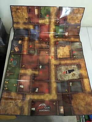 WizKids HorrorClix Replacement Crumbling Mausoleum Hautned House Fold Out Board