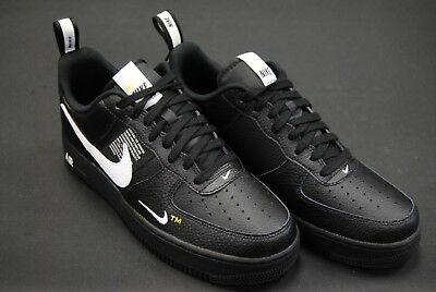 17a8c411ca AJ7747 001] NEW Men's Nike Air Force 1 '07 Lv8 Utility Black White ...
