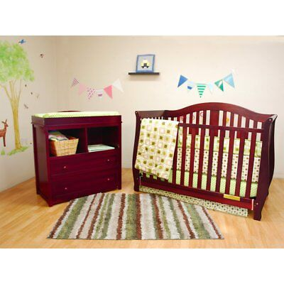 Athena Desiree 4-in-1 Convertible Crib and Leila Changer Set