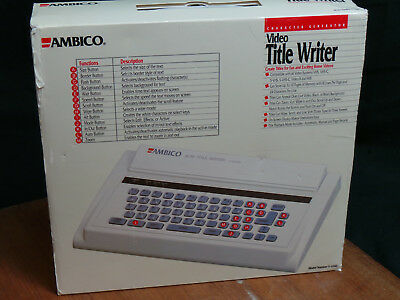 Ambico Character Generator Title Writer V- 6360 New In Box