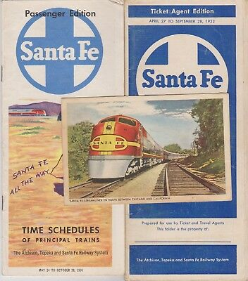 Santa Fe Postcard & Time Tables
