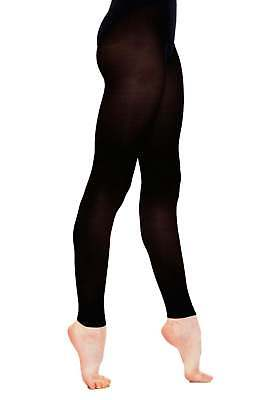 Ladies Adult Silky Footless Dance Tights In Black - Available In S, M, L, Xl