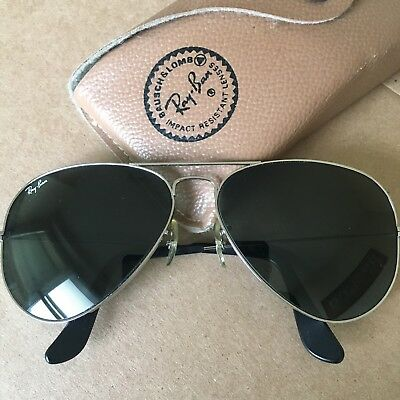 Vintage Bausch & Lomb Ray-Ban Aviator Sunglasses w/Case-Worn Only Once Or Twice