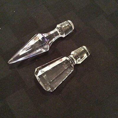 Vintage Solid Crystal Glass Decanter Stoppers