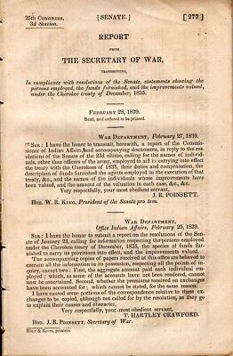 1835, Cherokee Trail of Tears, Government  doesn't come through on promise