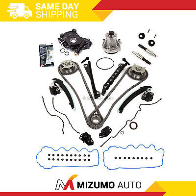 Timing Chain Kit  VCT Selenoid Cam Phaser Oil Water Pump Fit 04-06 Ford 5.4L 24V