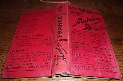 Michelin guide rouge 1952