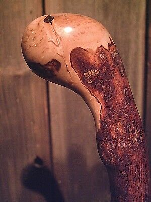 shillelagh cane one piece natural maple wood american made 4 average size hand