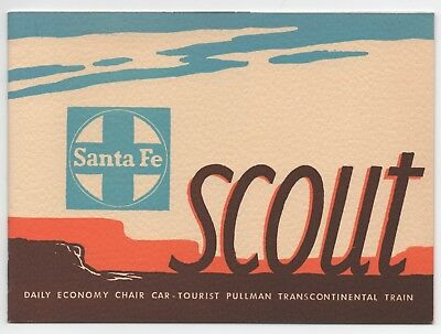 "Santa Fe ""Scout"" — 1940 Full-Color Passenger Train Brochure"
