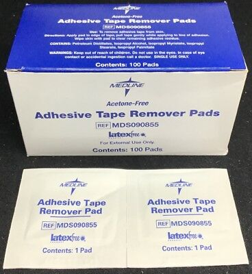 100 Medline MDS090855 Adhesive Tape Remover Pads